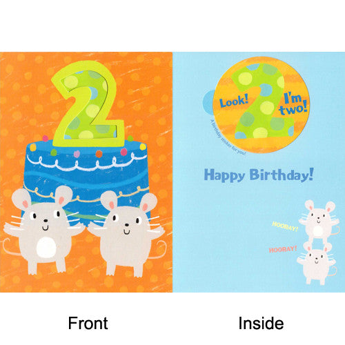 Peaceable Age 2 Mice Giant Sticker Card