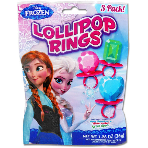 Flix Candy Frozen Lollipop Rings 3pk