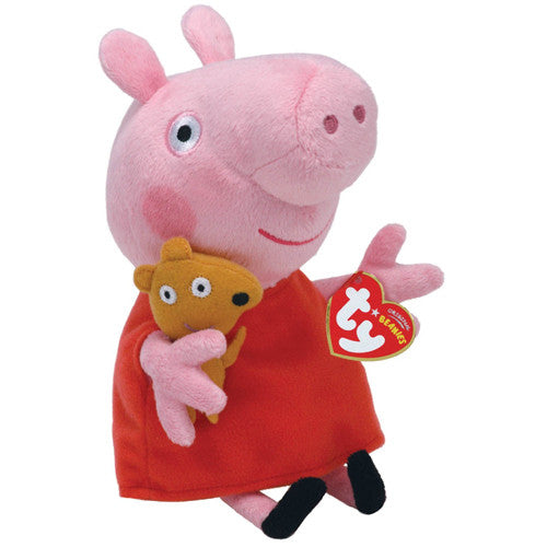 TY Peppa Pig Beanie Baby Red Dress