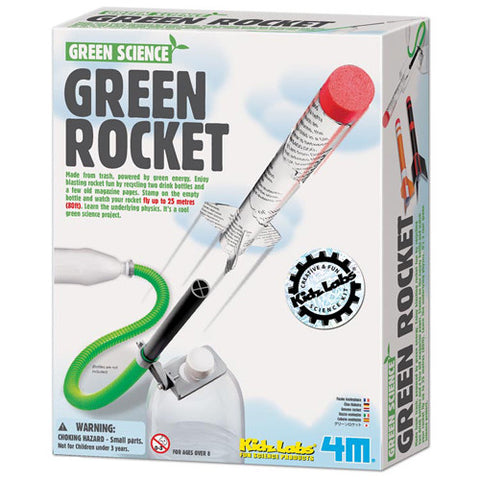 Toysmith 4M Green Rocket