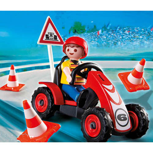 Playmobil  Boy w/ Racing Cart