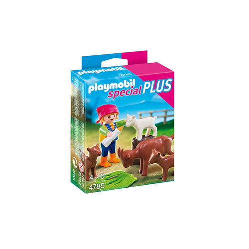 Playmobil Girl with Goats