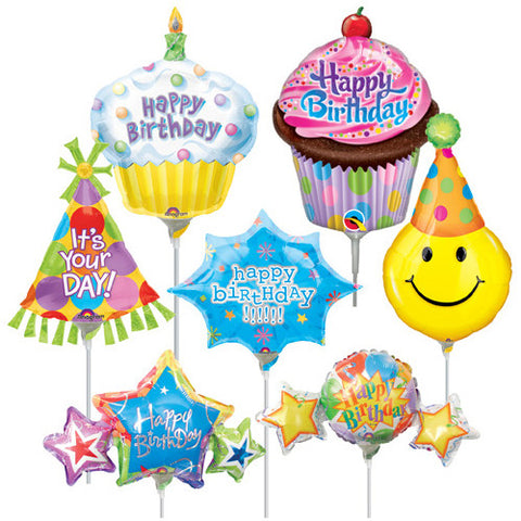 B Everywhere PreFilled Bday Balloon 14""