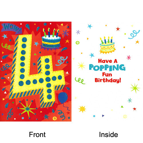 Peaceable Age 4 A Popping Fun Birthday