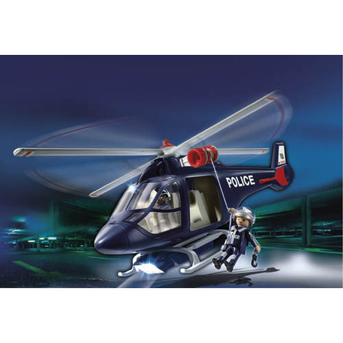 Playmobil Police Helicopter w/LED Light