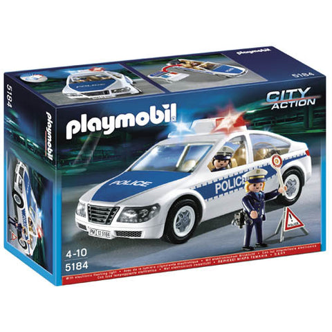 Playmobil Police Car w/Flashing Light