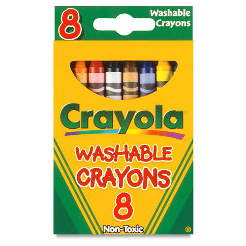 Crayola 8ct Washable Crayola Crayons