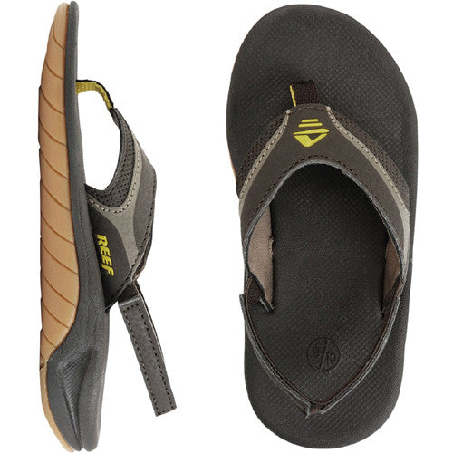 Reef Kids Slap II Sandal Brown Gum 7/8 Below One