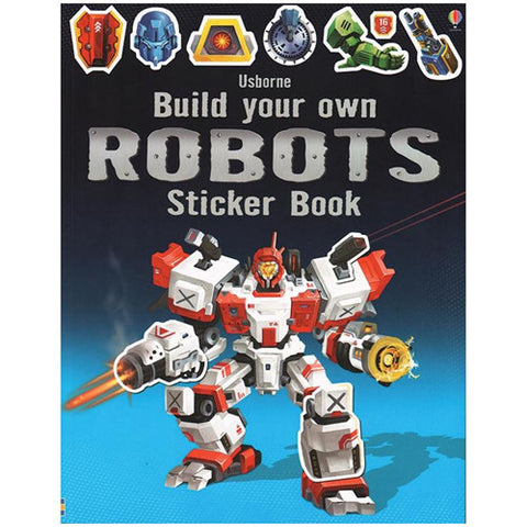 Usborne Build Your Own Robots Sticker Bo