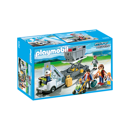 Playmobil Aircraft Stairs w/Passengers
