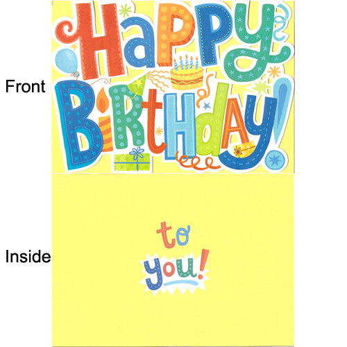Peaceable Happy Birthday Letter Cut