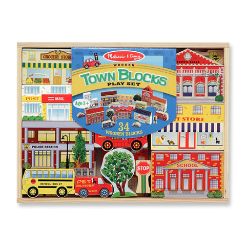 M&D My Town Blocks Play Set