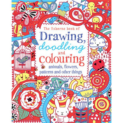 Usborne Red Drawing/Doodling/Coloring