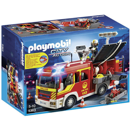 Playmobil Fire Engine with Lights & Soun