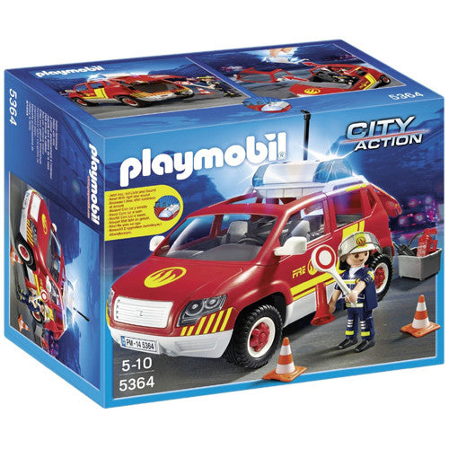 Playmobil Fire Chief's Car with Light &