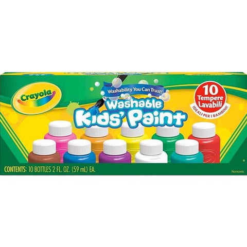 Crayola Washable Kid's Paint 10ct 2oz.
