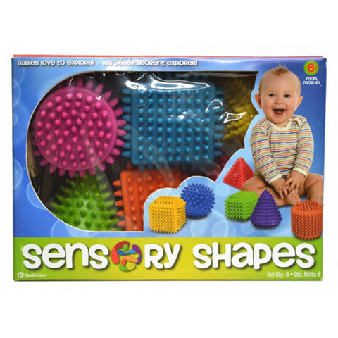 Ball Bounce Sensory Shapes 6pcs