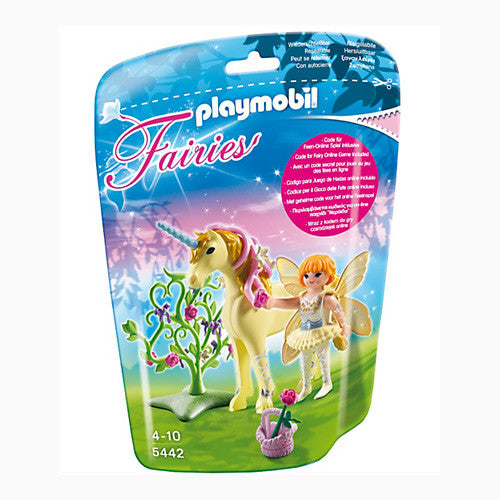 Playmobil Flower Fairy w/Unicorn Sun Bea