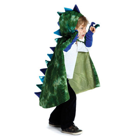Creative Dragon Cape with Claws Green Md