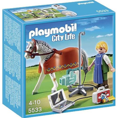 Playmobil Horse with X-Ray Technician