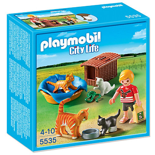 Playmobil Cat Family with Basket
