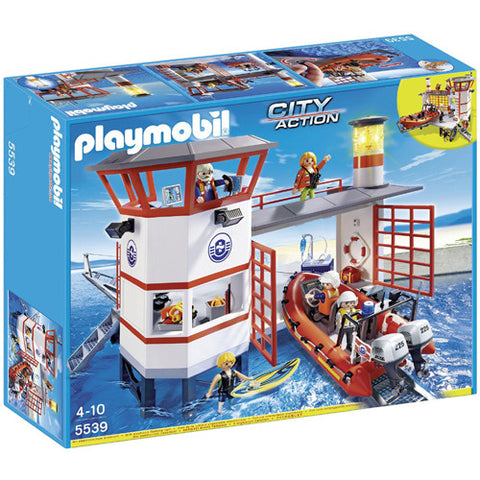 Playmobil Coast Guard Station with Light