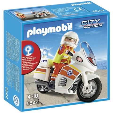 Playmobil Emergency Motorcycle with Ligh