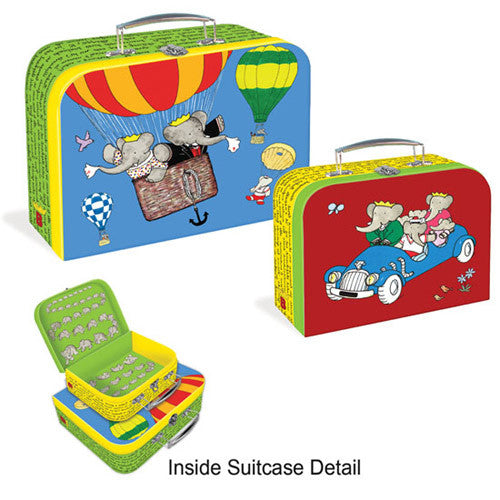 Yottoy Babar Suitcases Set of 2