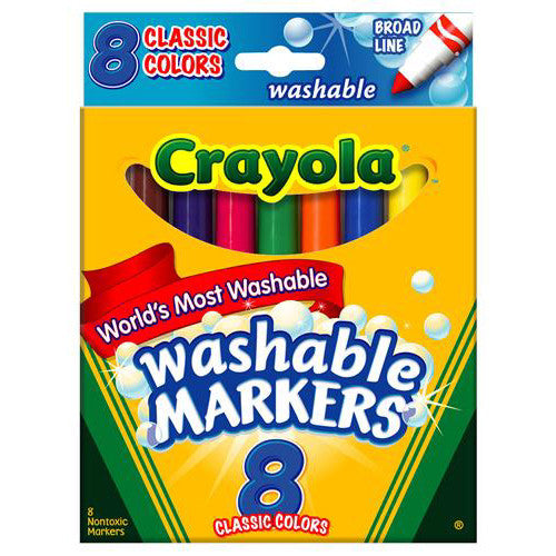 Crayola 8ct Washable Broad Line Markers