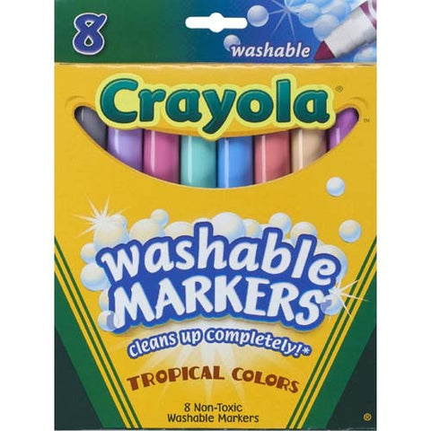 Crayola 8ct Washable Markers Tropical