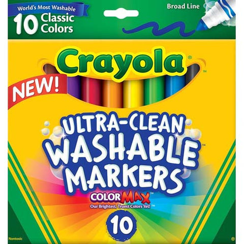 Crayola 10ct Washable Markers Broad Line