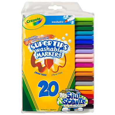 Crayola 20ct Washable Super Tips