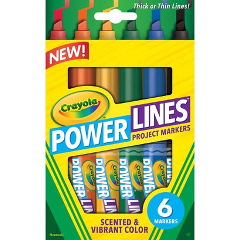 Crayola 6ct PowerLines Scented Markers
