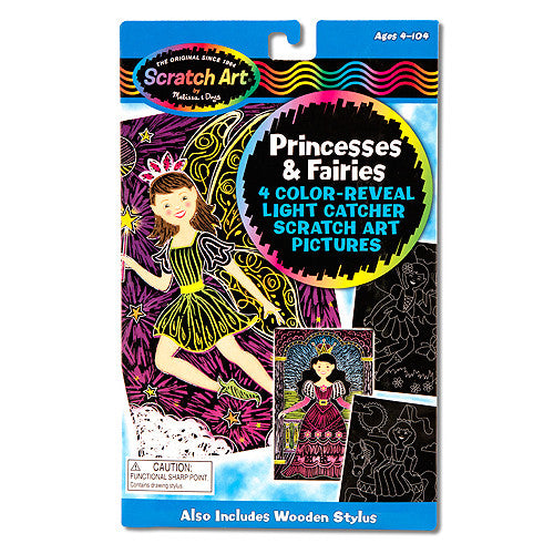 M&D Scratch Art-Light Catcher-Princesses