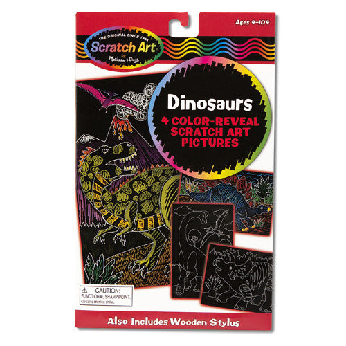 Scratch Art Dinosaurs Color-Reveal Pics