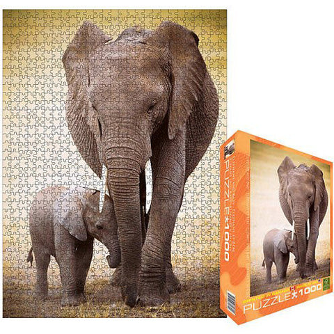 Eurographics 1000pc Elephant and Baby