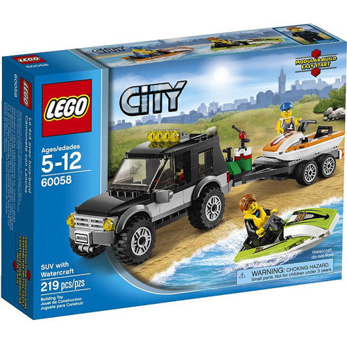 Lego City SUV with Watercraft