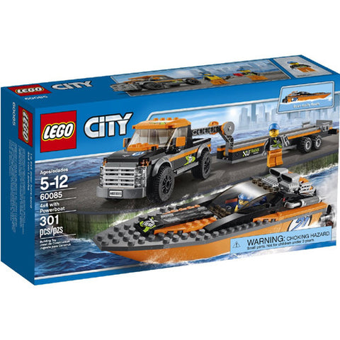 Lego City Veh 4x4 with Powerboat