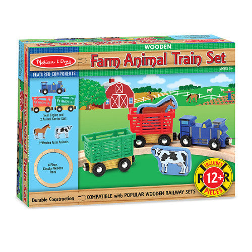 M&D Farm Animal Train Set