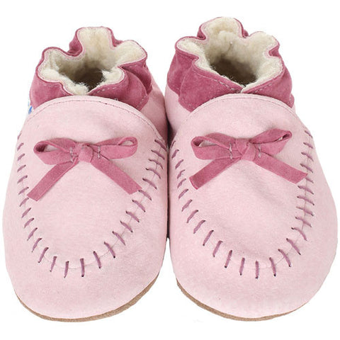 Robeez Girls Cozy Moccasin Pink Pink 18-24 Months
