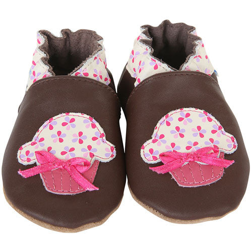 Robeez Girls Cupcake Brown Brown 6-12 Months
