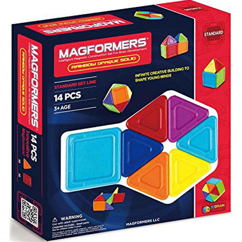 Magformers Opaque Rainbow Solids 14pc