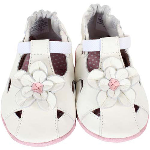 Robeez Pretty Pansy White 18-24 Months