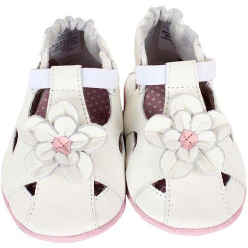 Robeez Pretty Pansy White 12-18 Months
