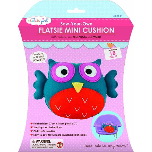 My Studio Girl Flatsie Mini Cushion Owl