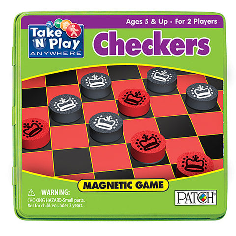 Patch Checkers Magnetic Take N Play