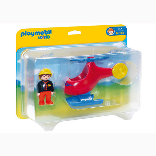 Playmobil 123 Fire Rescue Helicopter