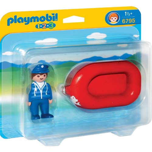 Playmobil Man with Water Raft