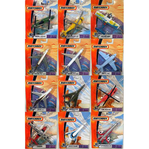Matchbox Mini Skybusters Assorted