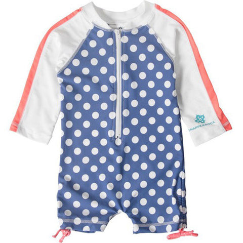 SnapperRock Cornflower L/S Sunsuit 12-24 months